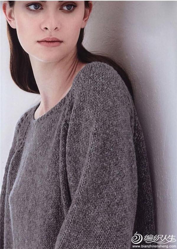 粗针织女士棒针毛衣
