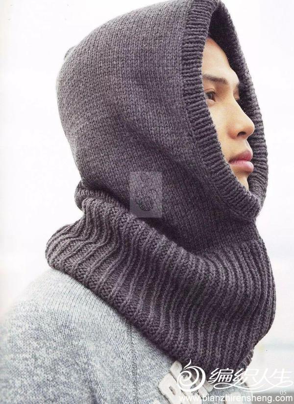 毛线围脖帽