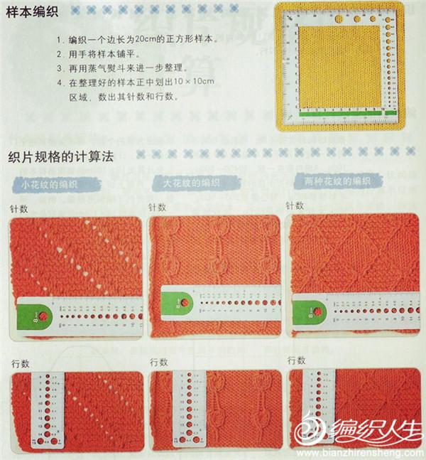 编织小样之标准规格