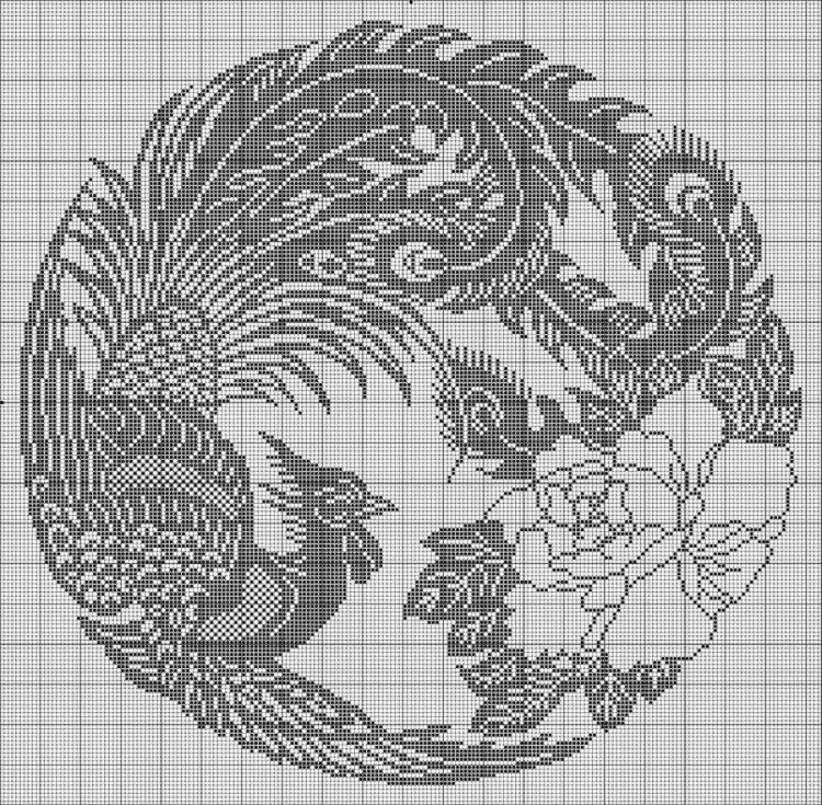 方格编钩针蕾丝图案
