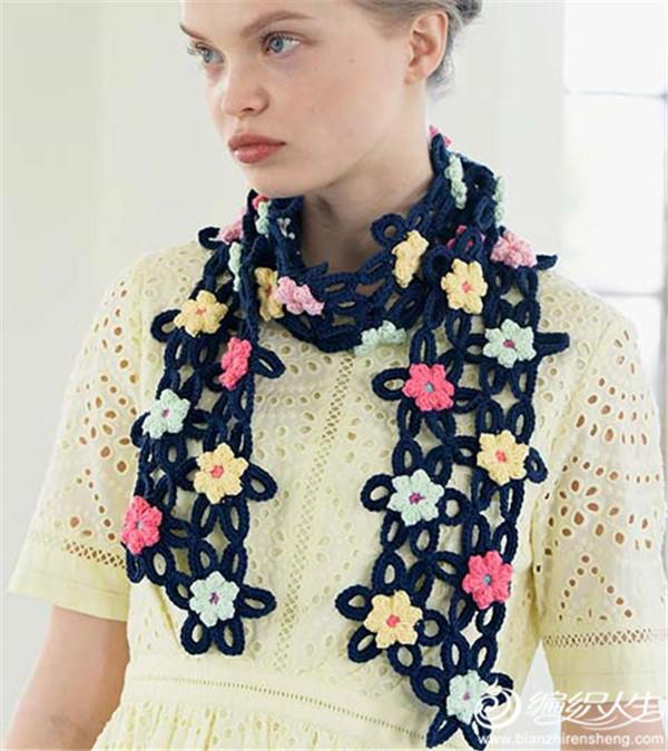 鉤針拼花圍巾