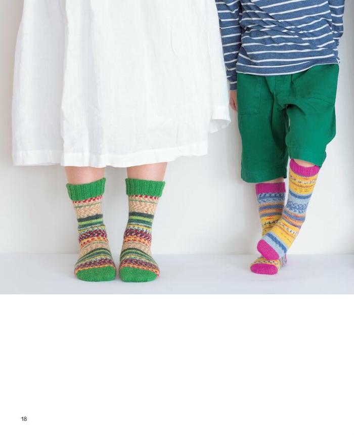 棒针提花袜子