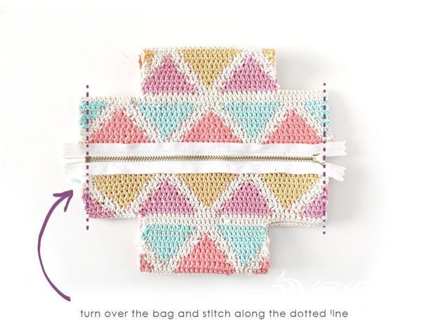 毛线拉链包制作方法