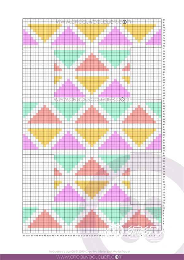手工编织几何图案