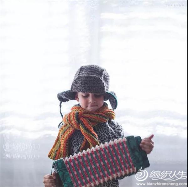 儿童毛线围巾帽子