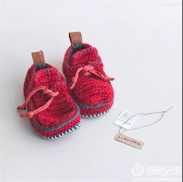 手工编织毛线鞋