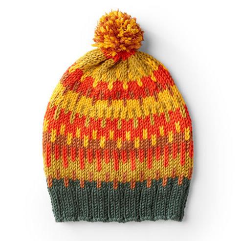 彩色提花毛线帽