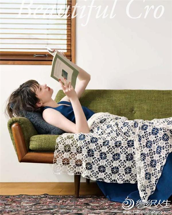 钩针蕾丝毯子