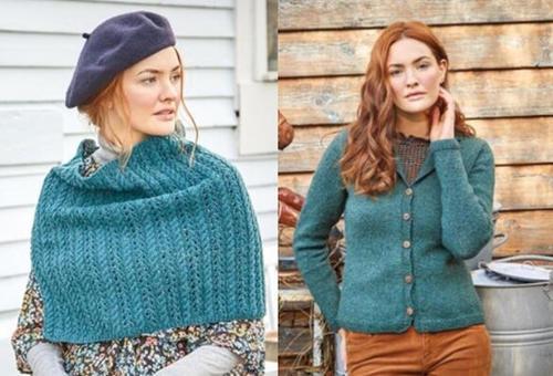 粗花呢彩点羊毛羊绒毛衣