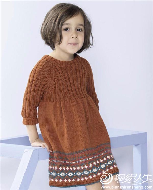 兒童棒針連衣裙