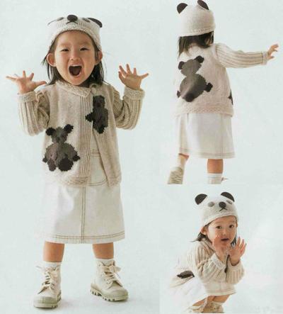 宝宝棒针开衫帽子
