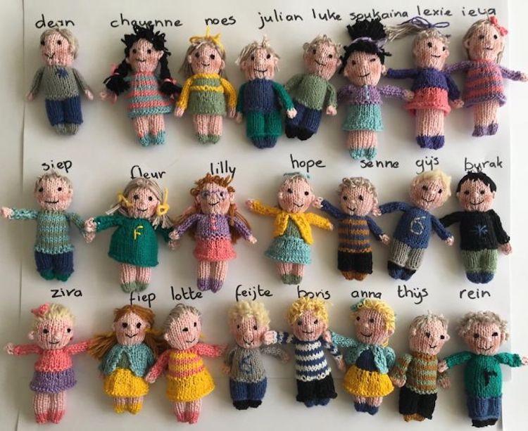棒针毛线玩偶