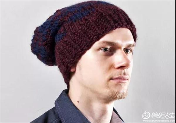男士棒针帽子
