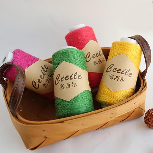 九色鹿塞西尔羊毛羊绒细毛线