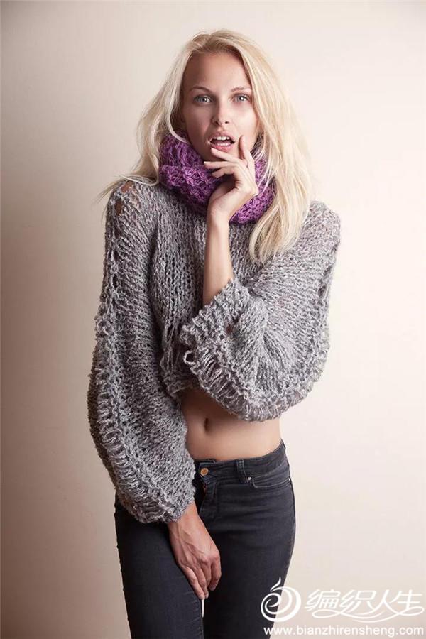 欧美手编毛衣款式