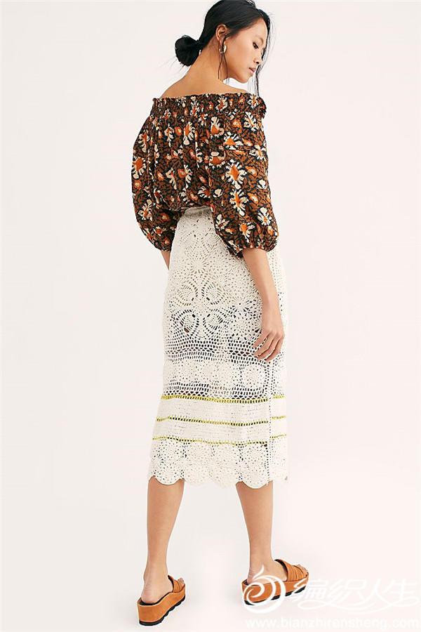 钩针蕾丝半身裙