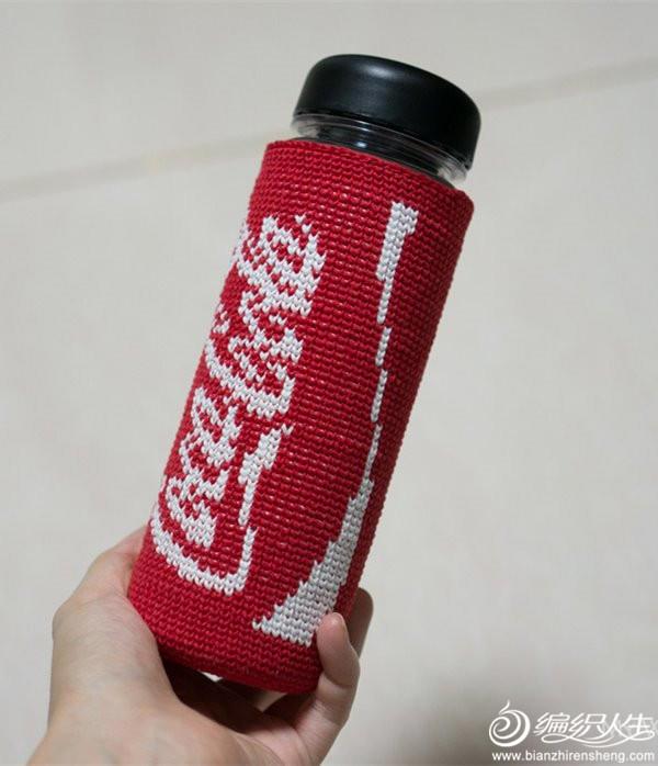 创意毛线钩针可乐杯套