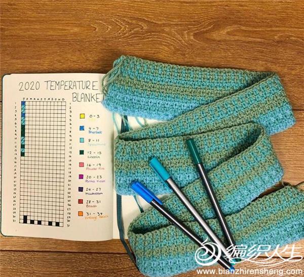 创意编织温度毯