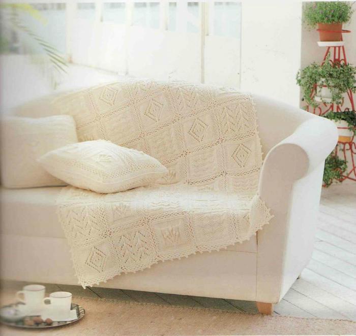 棒针毯子抱枕