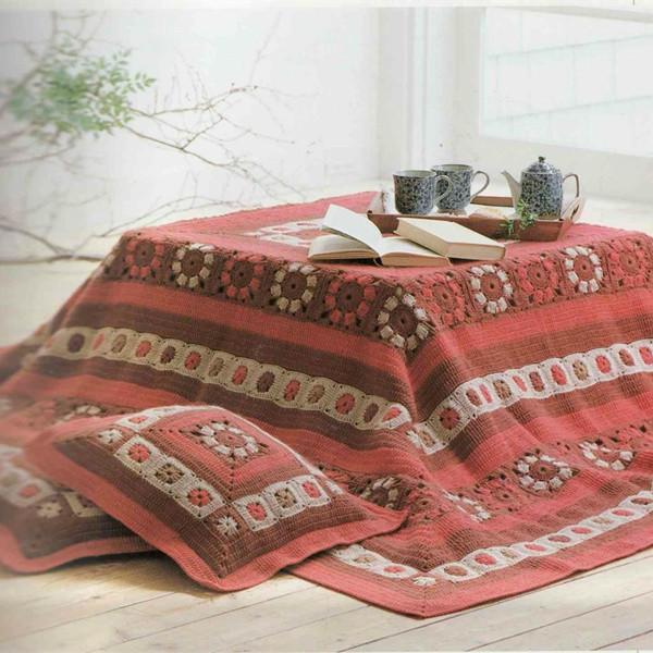 钩针毯子抱枕