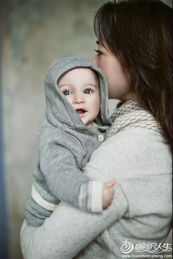 宝宝针织连帽开衫
