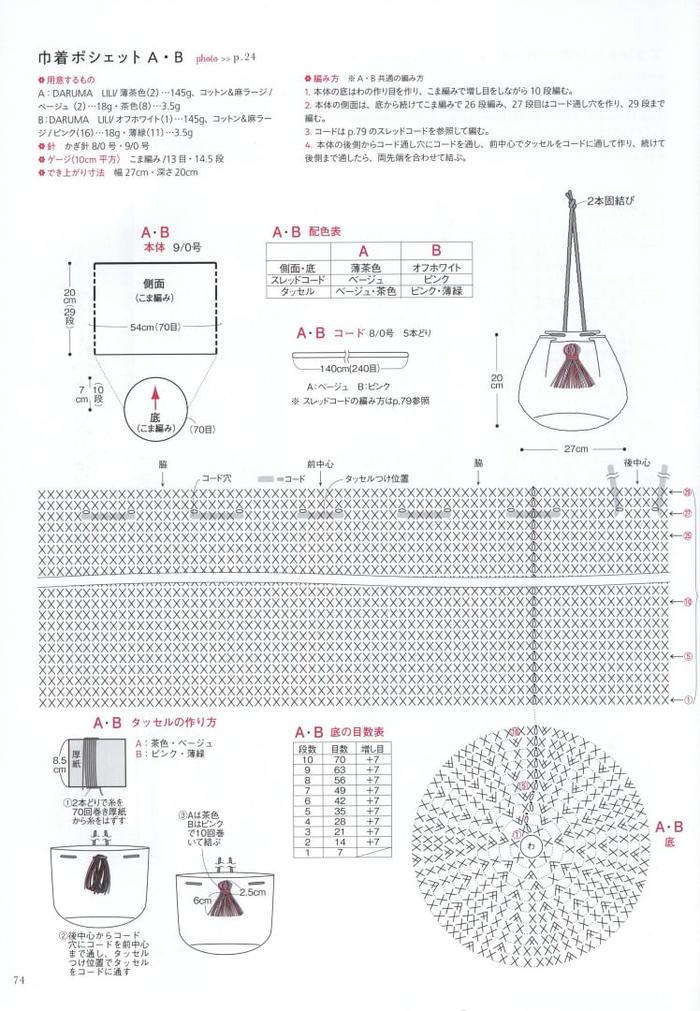 圆筒包的钩织方法