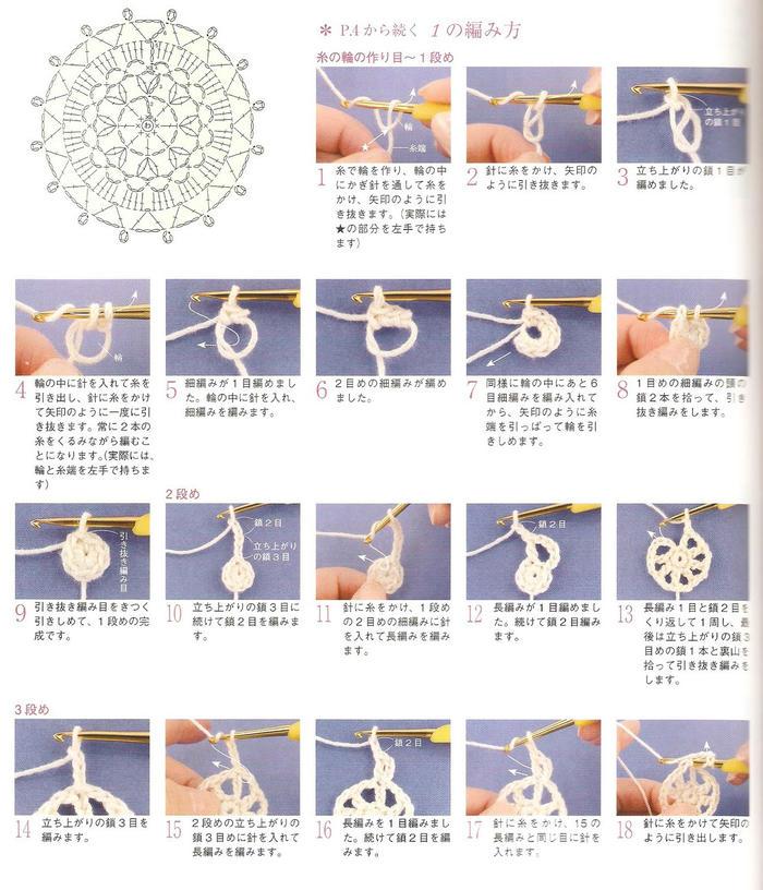 适合零基础钩针新手入门编织练习的一组小花样