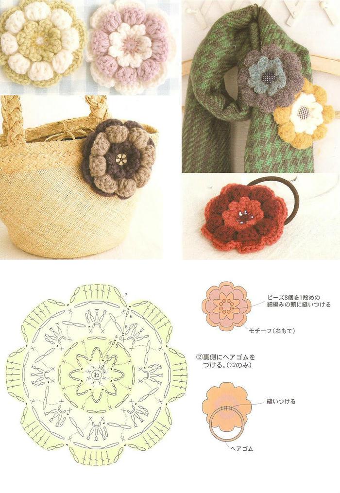 钩针立体花