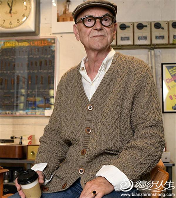 中老年男士棒针开衫