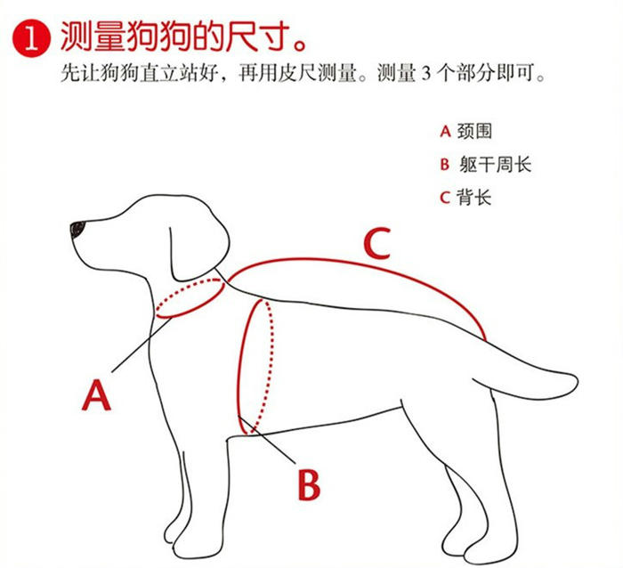 狗狗毛衣测量尺寸