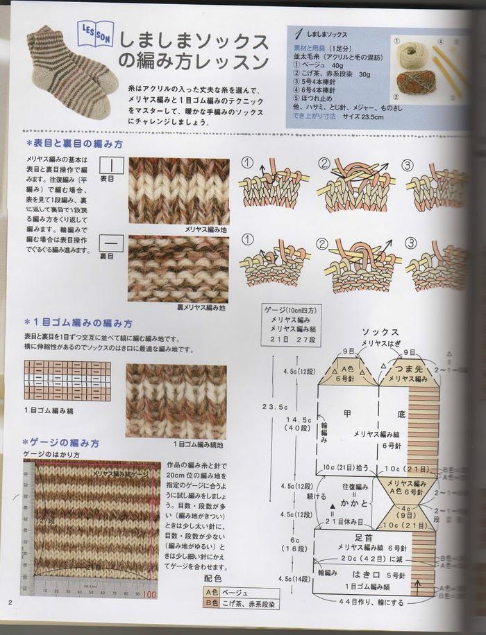 毛线袜子织法
