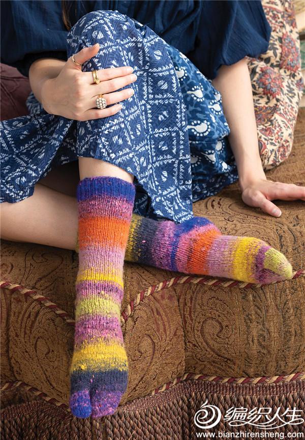 彩色毛线袜子