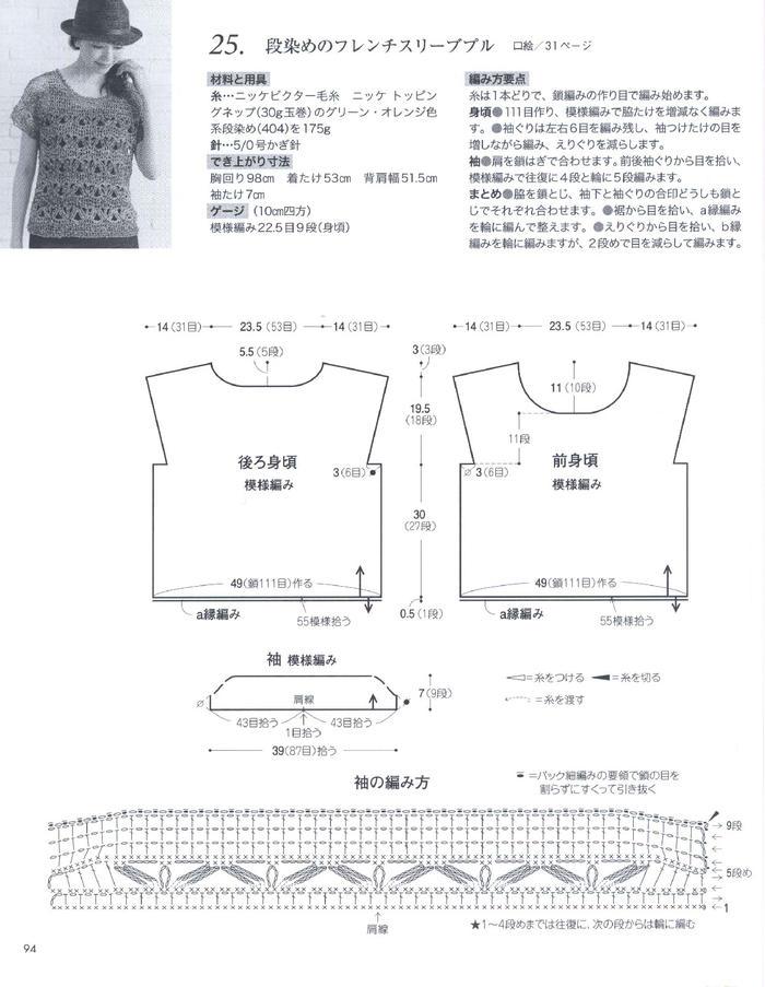 创意彩色花式纱手工编织女士春夏短袖3款