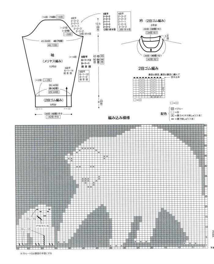 毛衣图案北极熊