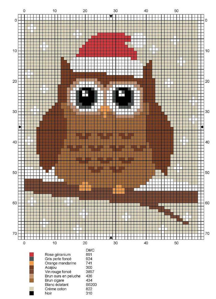 圣诞猫头鹰图案