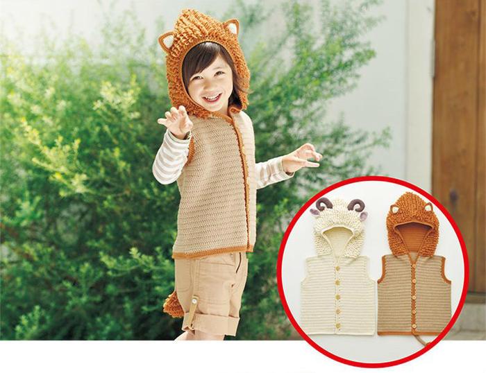 动物造型宝宝钩针马甲