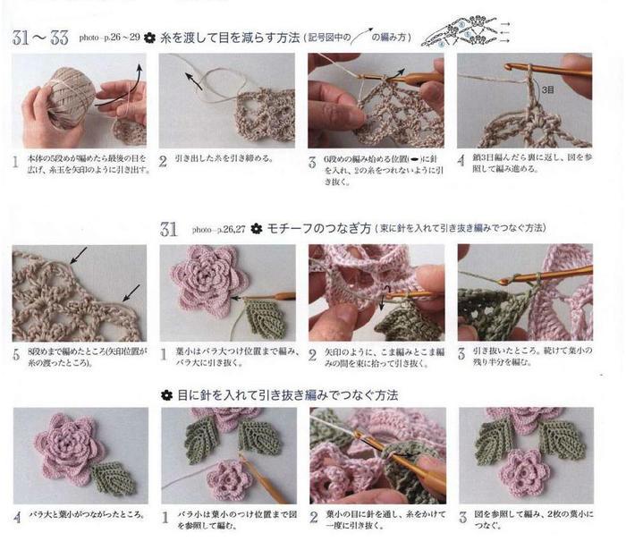钩针立体花装饰