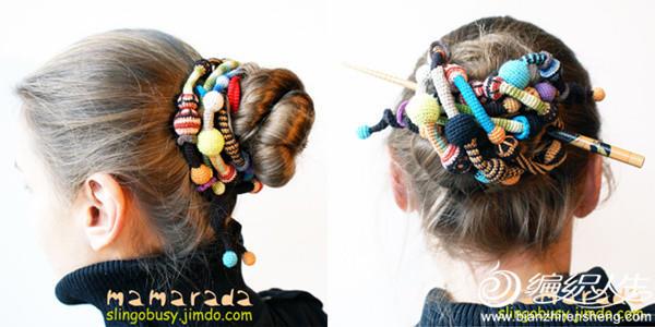 毛线创意钩针发饰