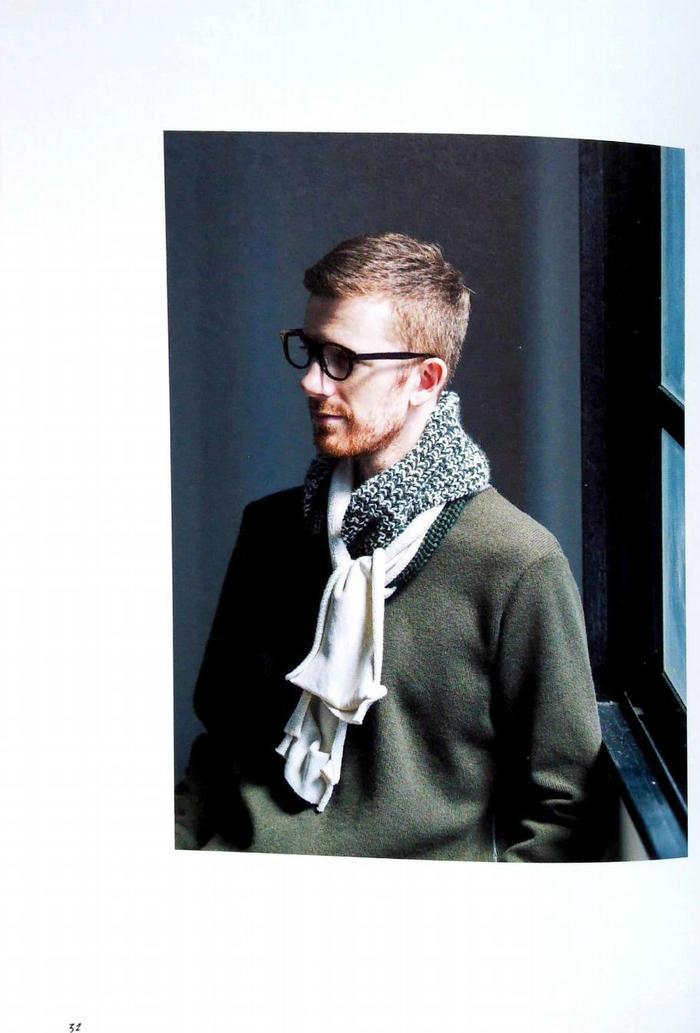 棒针男士围巾