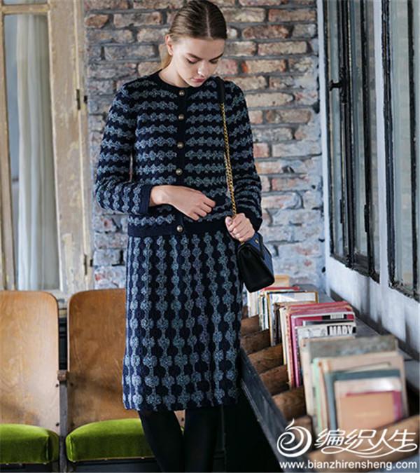 手工编织女士套裙