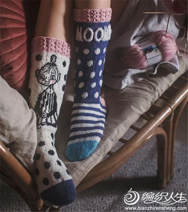 趣编毛线袜子