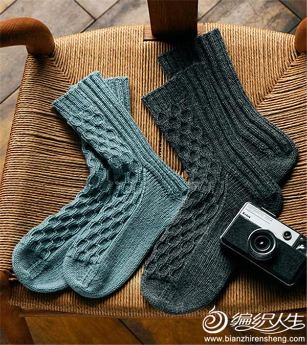 棒针毛线袜子