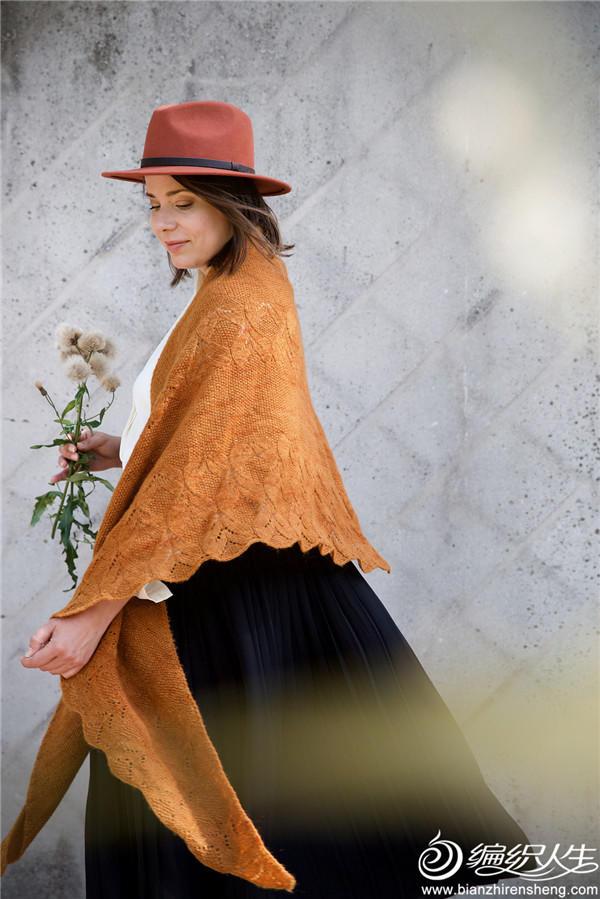 Poet shawl女士棒针三角披肩