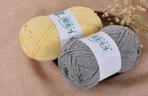 卡卡米妮彩麻纤棉8股牛奶棉