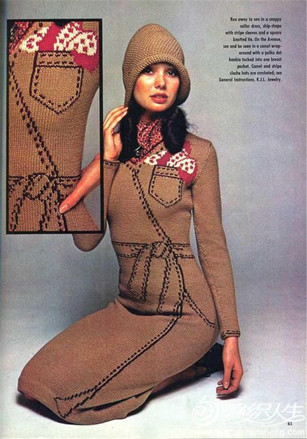 女士棒针裙装1975年 《美国家庭手工艺品》杂志