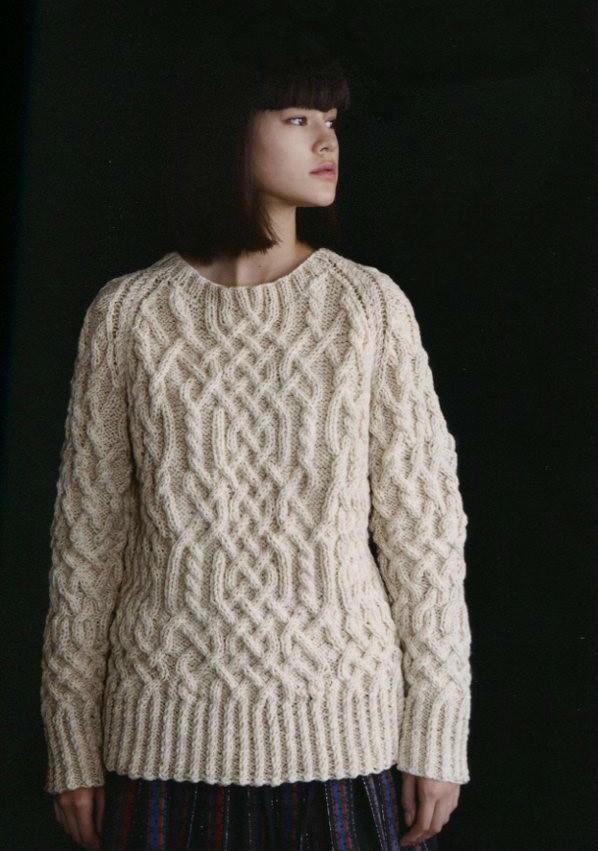 女士棒针麻花毛衣