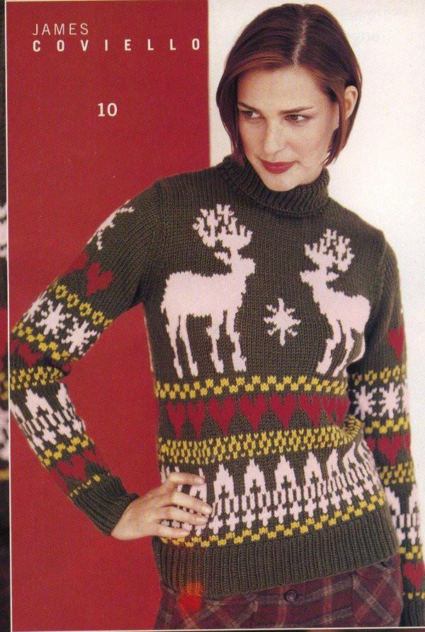 圣诞主题棒针毛衣