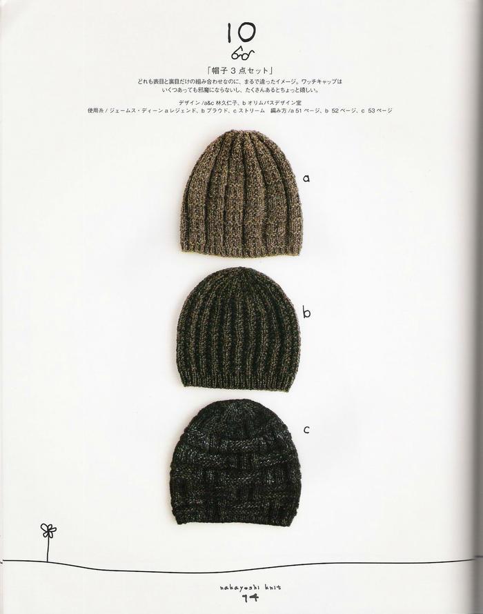 秋冬棒针毛线帽款式