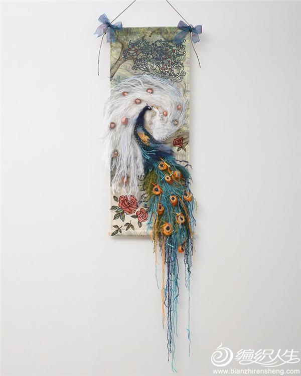 马海毛孔雀艺术装置