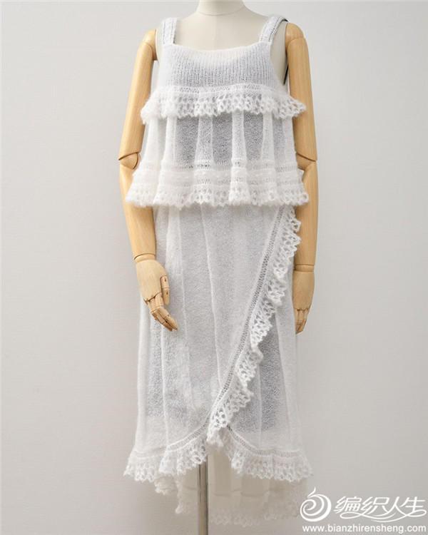 女士棒针马海裙装